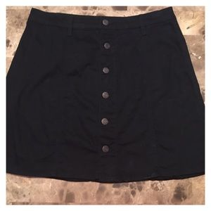 Massimo Supply Button Front Mini Skirt Size 10